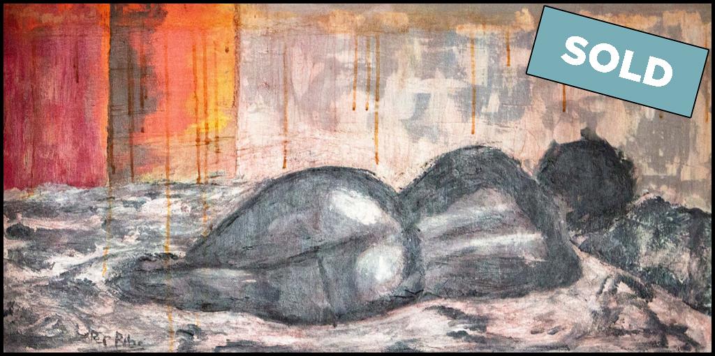Mujer durmiendo plácidamente de espaldas