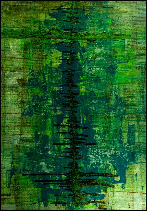 Cuadro acrílico abstracto decorativo