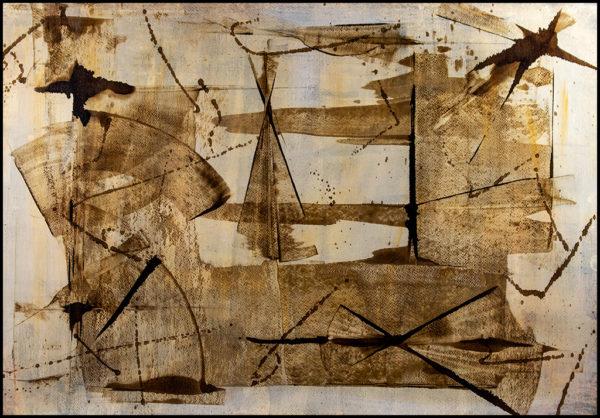 Cuadro acrílico abstracto minimalista